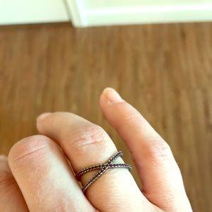 Black X Ring -Reversible